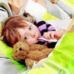 У ребенка 11 месяцев болит горло и температура чем лечить